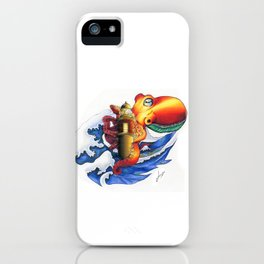 The attack of the kraken iPhone Case