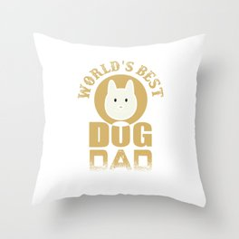 Dog animal bone bowl Gassi animal love gift Papa Throw Pillow