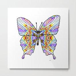 Mosaic Butterfly 1 Metal Print