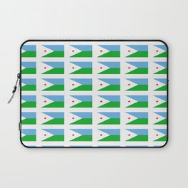 flag of Djibouti -djiboutian,Jabuuti,Gabuuti,Djiboutien,punt,aksum,aden Laptop Sleeve