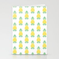 pineapple Stationery Cards featuring Pineapple by Jacqueline Maldonado