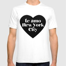 te amo nyc heart White Mens Fitted Tee SMALL