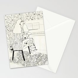 Sound of fingertips Stationery Cards