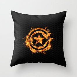 The Captain on Fire Throw Pillow