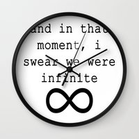infinite Wall Clocks featuring Infinite by AliceAttack