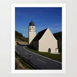 Cycling at Sanctuary Stettkirchen Art Print