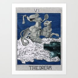 the dream. tarot cards Art Print