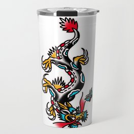 American traditional dragon Travel Mug