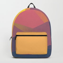 Sunset Mountains Polygons Backpack