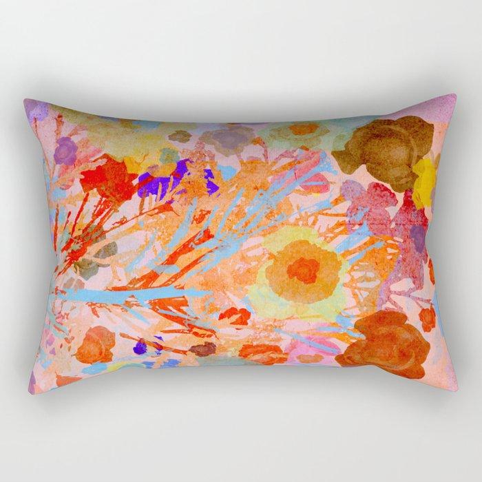 Floral abstract(46). Rectangular Pillow