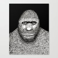 bigfoot Canvas Prints featuring Bigfoot by The Art of Filippo Borghi