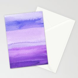 Crystal Soft Amethyst, Blue Dreams & Lavender _hand painted watercolour Stationery Cards