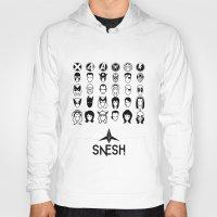 superheroes Hoodies featuring Superheroes pictograms by Snesh