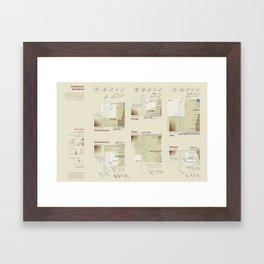 Continents' showdown (Visual Data 07) Framed Art Print