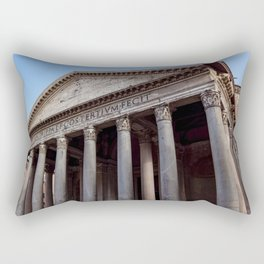 Pantheon holy temple in Rome - Italy Rectangular Pillow