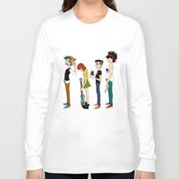 gorillaz Long Sleeve T-shirts featuring Grojband by Hardcore Cuties