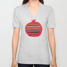 Pomegranate Unisex V-Neck