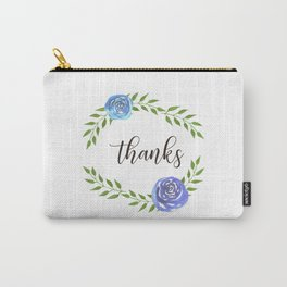 Happy Thanksgiving floral frame Carry-All Pouch
