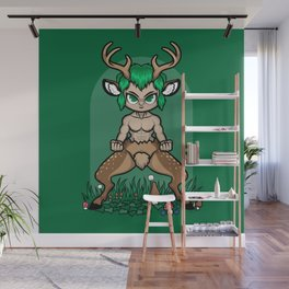 Faun Fighter (stag) Wall Mural