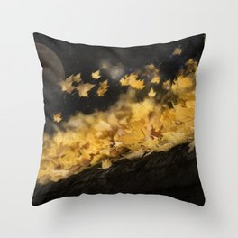 Blustery Autumn Throw Pillow
