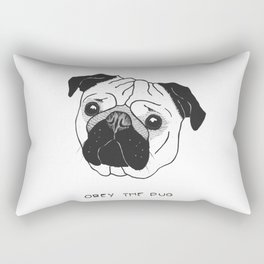 Obey the Pug Rectangular Pillow