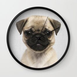 Pug Puppy - Colorful Wall Clock