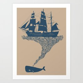Exhaling Flotsam Art Print