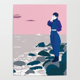 Woman by the sea Poster
