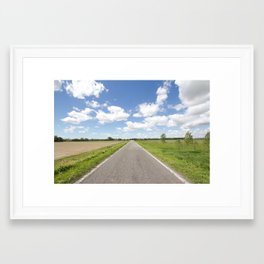 Straight Framed Art Print
