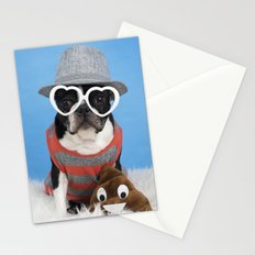 Little Shit Boston Terrier Stationery Cards