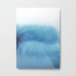 Cute Ombre Blue Watercolor Metal Print