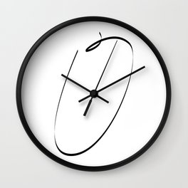 """ Singles Collection "" - One Line Minimal Letter O Print Wall Clock"