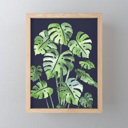 Delicate Monstera Blue #society6 Framed Mini Art Print