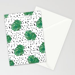 Monstera Dot Spots Stationery Cards