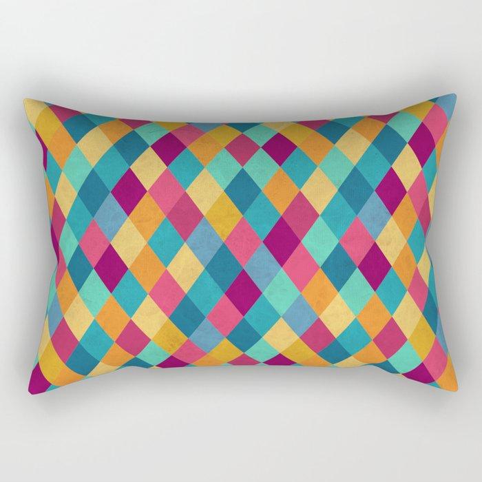Colored Diamonds Rectangular Pillow