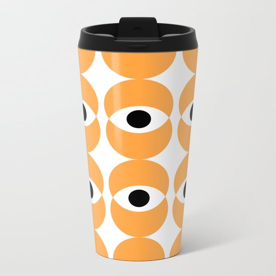 ABSTRACT PATTERN Metal Travel Mug