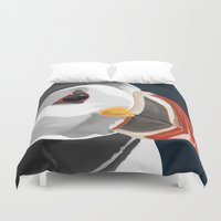 puffin Duvet Covers featuring Pablo the Puffin by 57 Montgomery Ave
