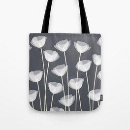 White Poppies Tote Bag