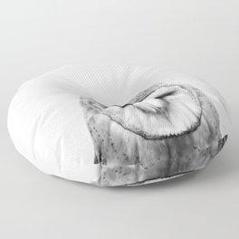 Black and white Owl Floor Pillow