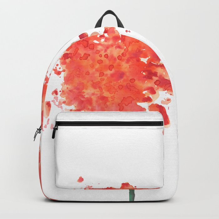 2 abstract geranium flowers Backpack