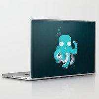 kraken Laptop & iPad Skins featuring Kraken by Damien Mason