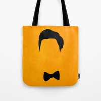 darren criss Tote Bags featuring Darren Criss Hair & Bowtie by byebyesally