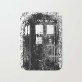 TARDIS (BLACK & WHITE VERSION) Bath Mat