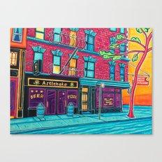 Artichoke Pizza Canvas Print