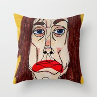 iggy pop Throw Pillows featuring Iggy Pop by Sasquatch