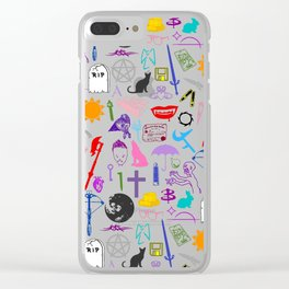 Buffy Symbology, Multi-color / Rainbow / PRIDE! Clear iPhone Case