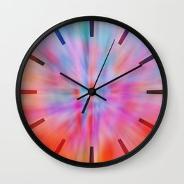Abstract Big Bangs 002 Wall Clock