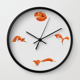 Fox poses Wall Clock