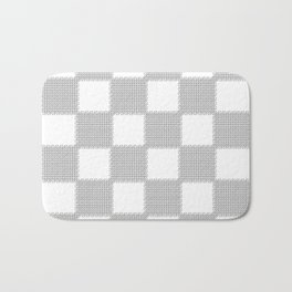 3D Line Drawing Cubes - Checkers Bath Mat