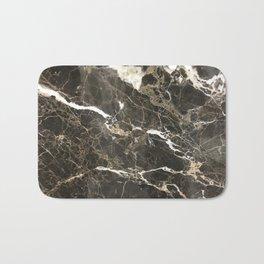 Dark Brown Marble With White Veins Bath Mat